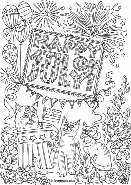 Free Printable Fourth Of July Coloring Pages Favoreads Coloring Club