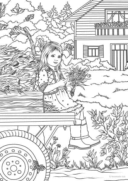 clip art library library amazon drawing coloring page - girl ... | 600x424