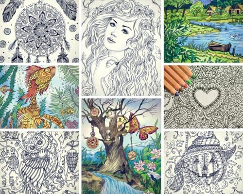 Here is a nice variety of free printable coloring pages that are ... | 400x500