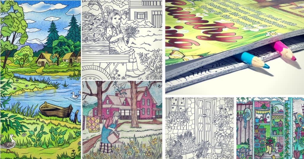 Best Adult Coloring Pages to Print Featuring Country Scenes and Nature
