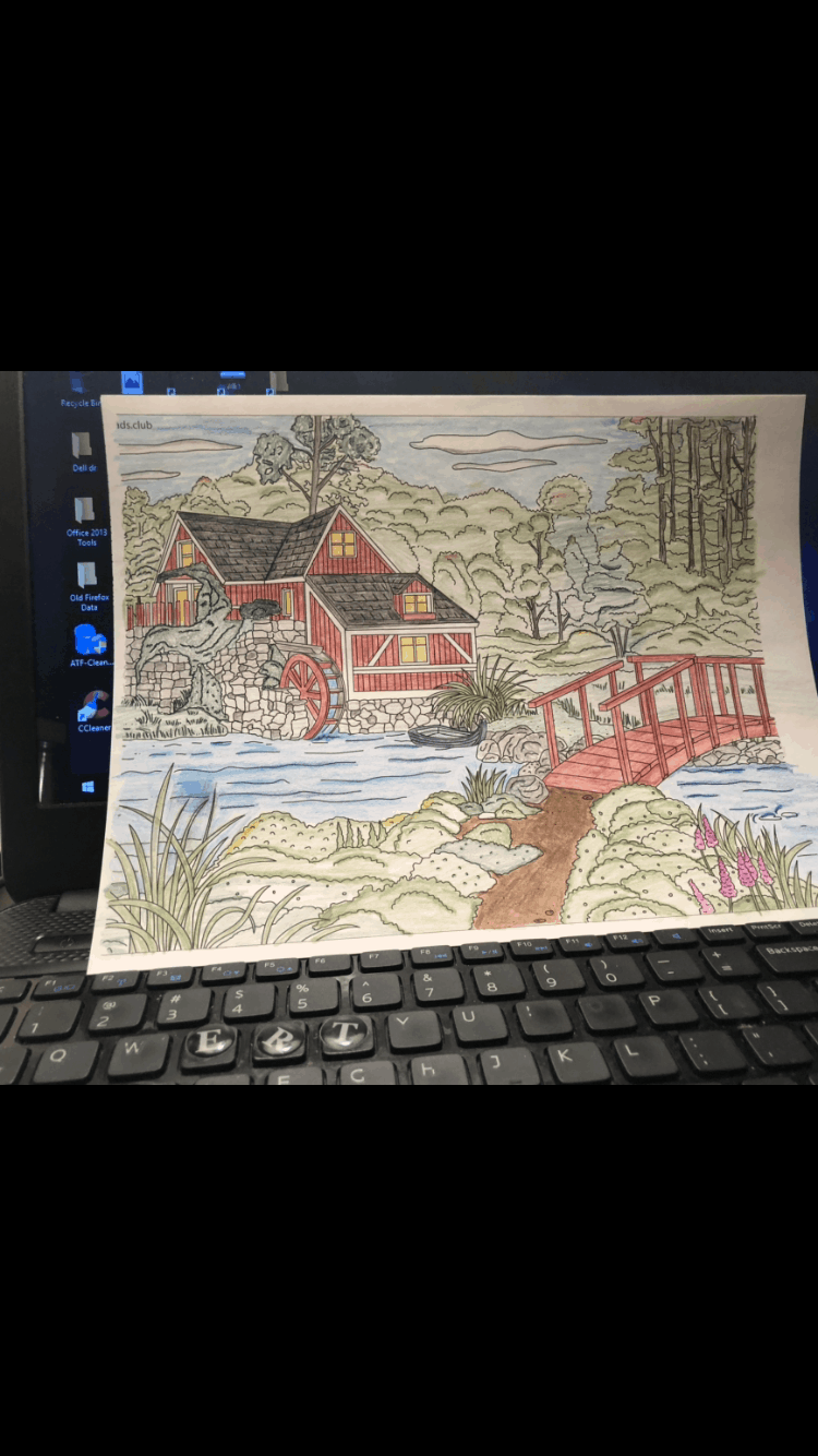 Country Spring – House with a Mill