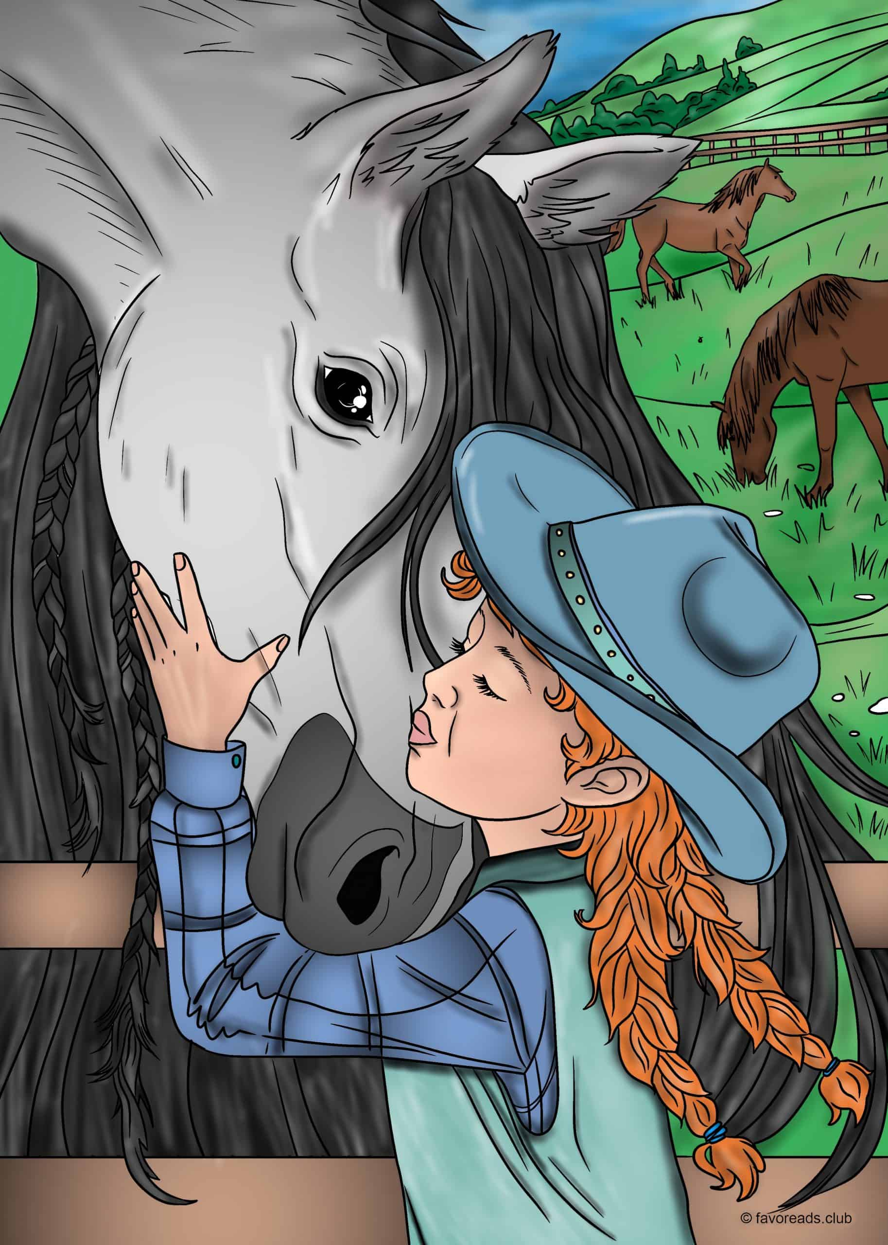 Girl and a Horse.