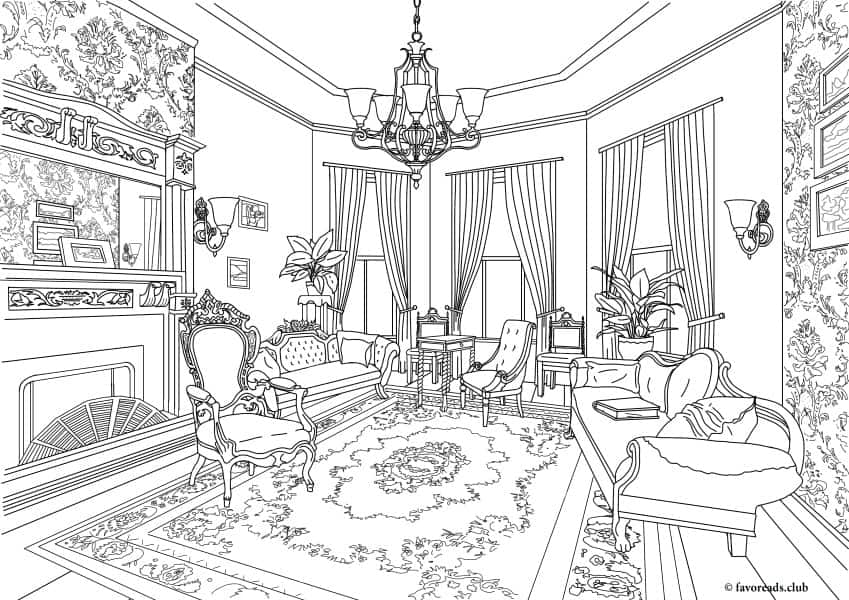 Authentic Architecture Victorian Living Room Favoreads Coloring Club