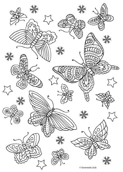 Turn Butterfly And Flower Coloring Pages For Adults Into Stylish Diy Magnets Favoreads Coloring Club