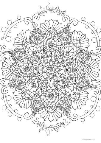 Mandala Design for Creative Stress-Relief