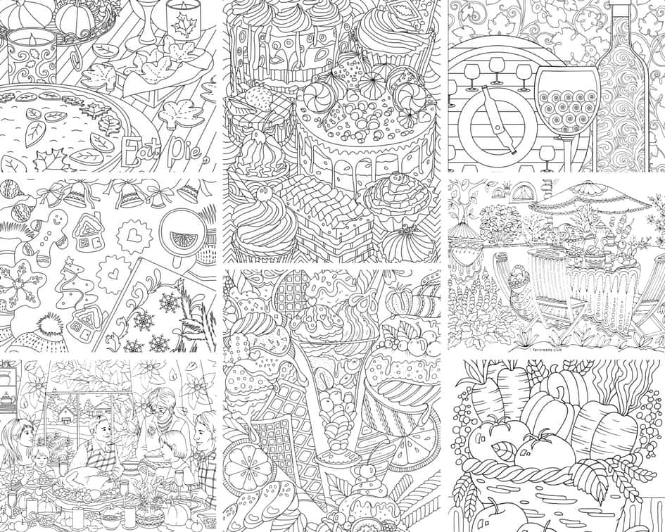 Food and Drinks – 10 Coloring Pages