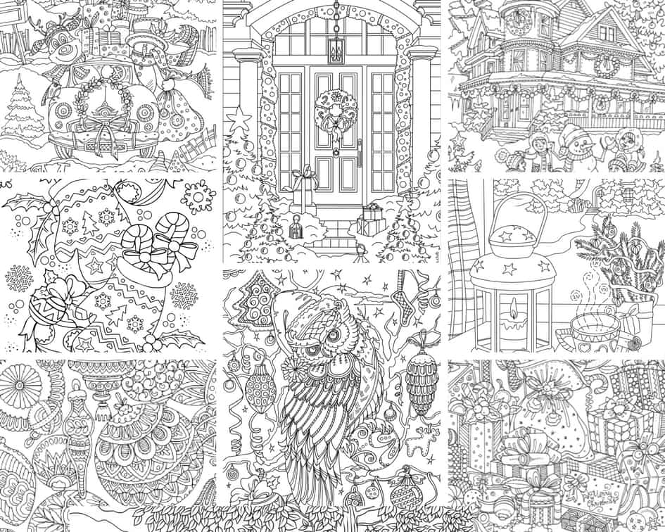 Christmas Wonders – 10 Coloring Pages