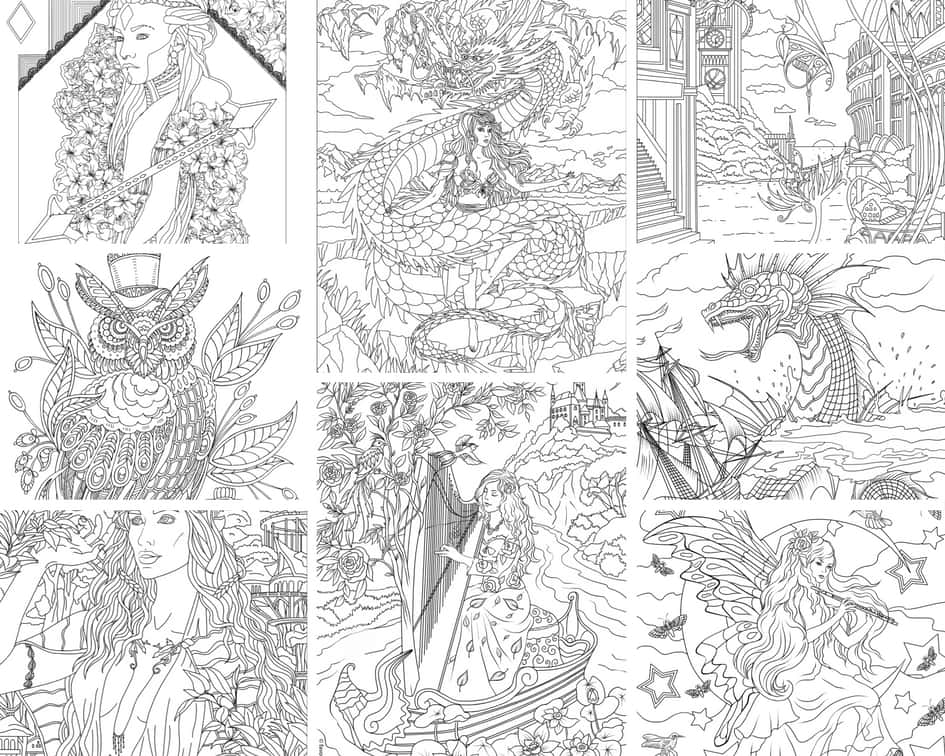 Fantasy World – 10 Coloring Pages