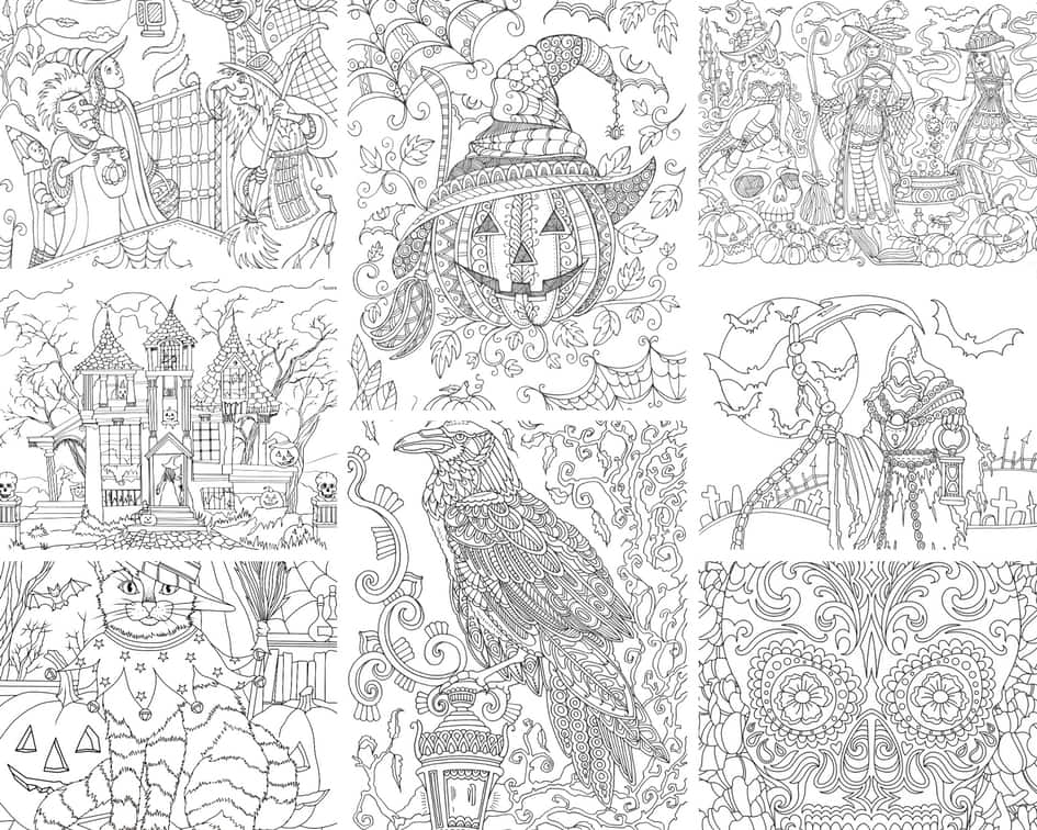 Halloween – 10 Coloring Pages
