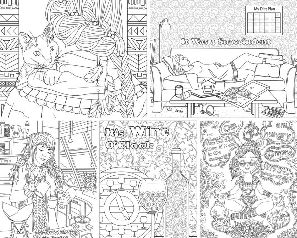 Funny Women – 5 Coloring Pages