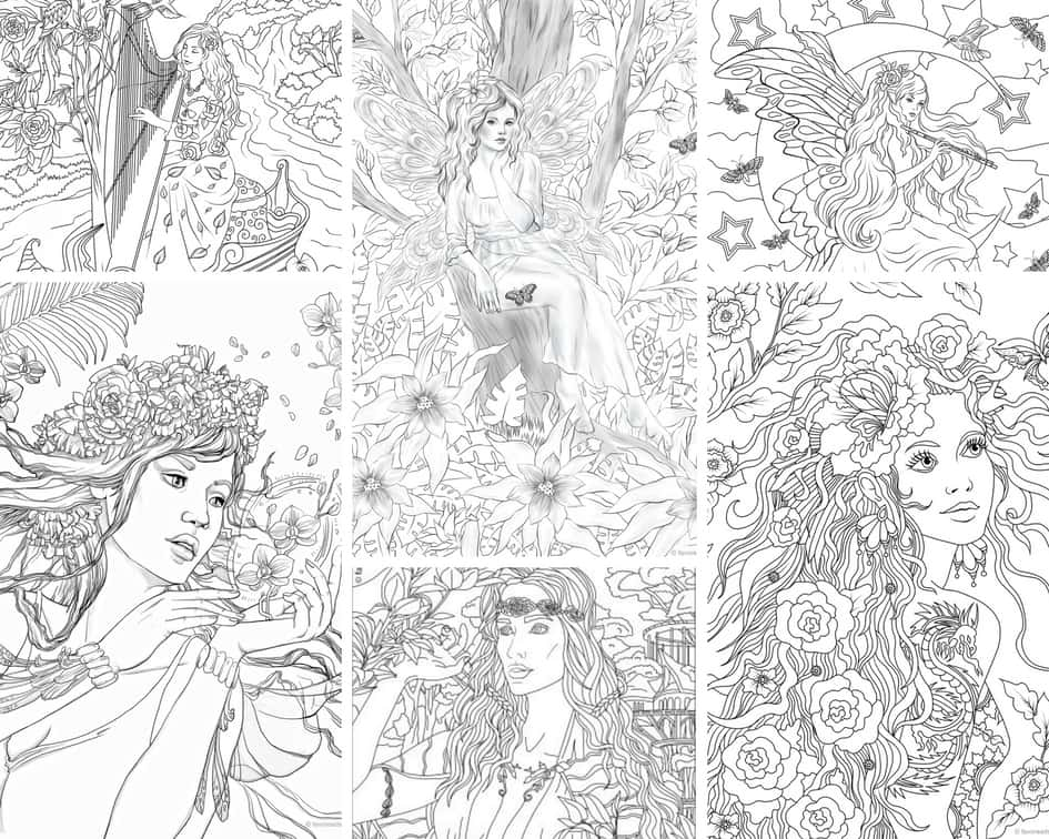 Charming Fairies – 10 Coloring Pages