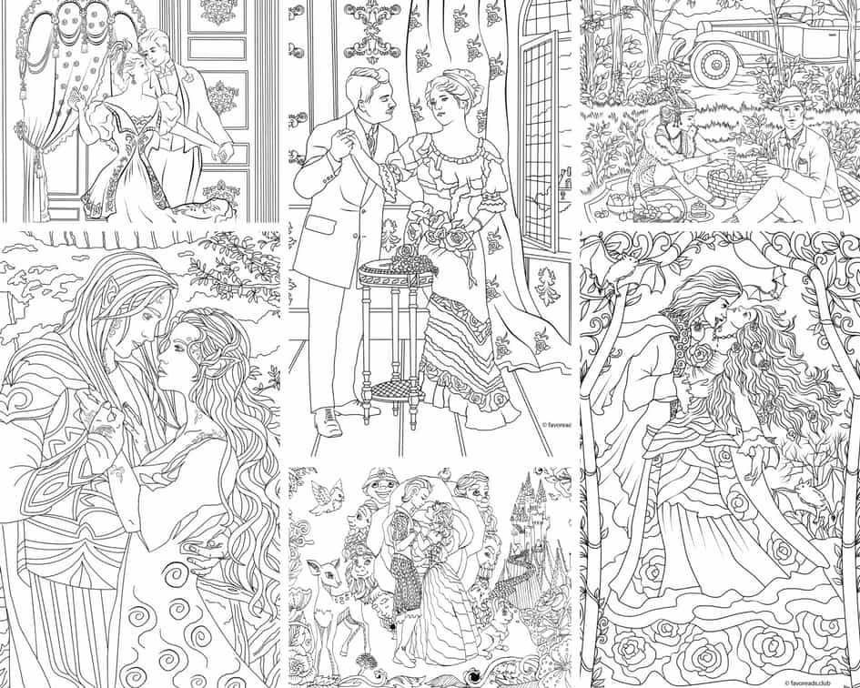 Romantic Moments – 10 Coloring Pages