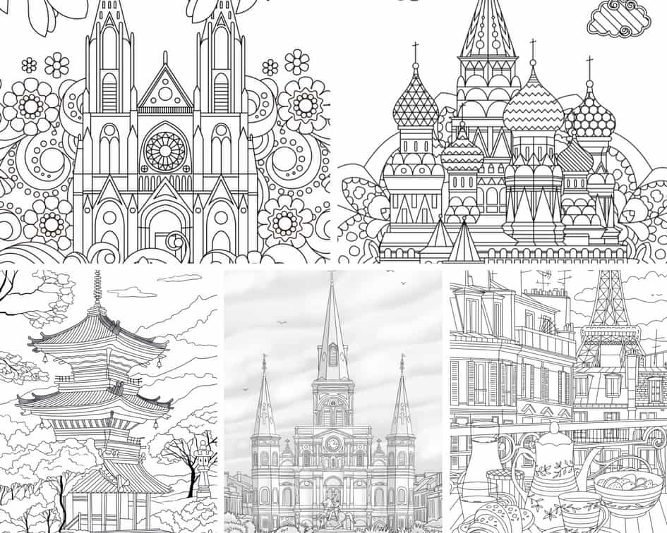 Traveling – 5 Coloring Pages