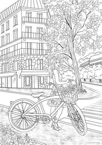 Women Printable Adult Coloring Pages from Favoreads