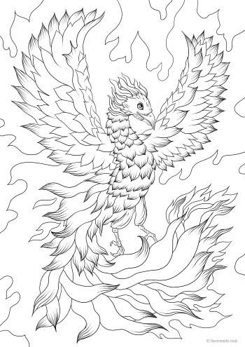 Phoenix Favoreads Coloring Club